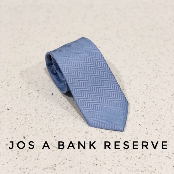 Jos. A. Bank Other - Jos A Bank Reserve Light Blue Silk Skinny Tie EUC